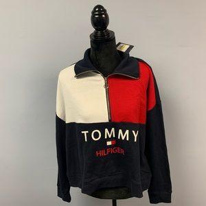 Tommy Hilfiger NWT Half Zip Sweater